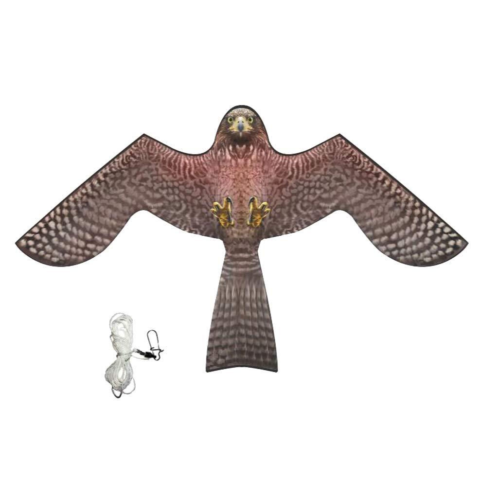 B Blesiya HAWK BIRD SCARER KITE W/LINE And SWIVEL Farm Agricultural Crops Allotment - A