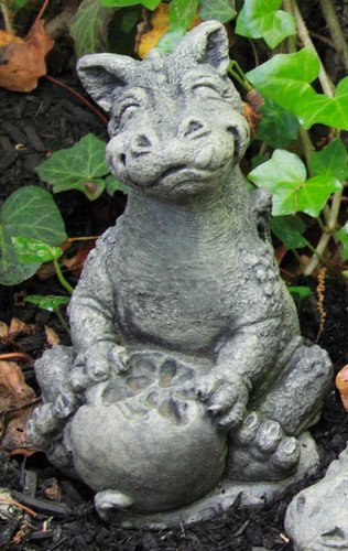 Cast Stone Garden Statues Amazon little darling dragon baby eating apple solid cast little darling dragon baby eating apple solid cast stone garden statue a workwithnaturefo