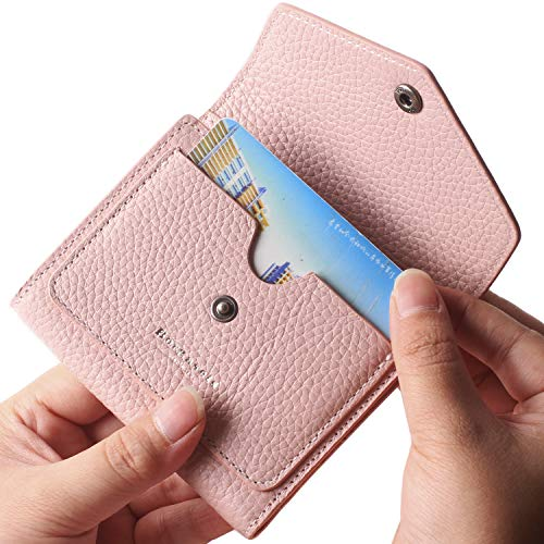 Borgasets Women's RFID Blocking Small Compact Bifold Leather Pocket Wallet Ladies Mini Purse Limited Edition Pink ()