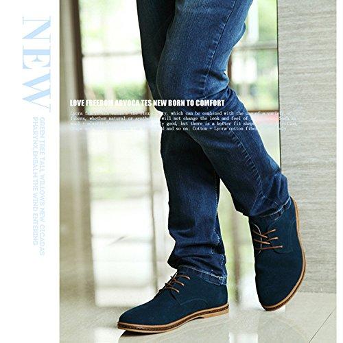 Stringate Pelle Oxford Men di Uomo Uomo Scarpe SHELAIDON Oxford Basse Shoes Verde Scarpe gqf1xR05