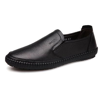 Shufang-shoes, Mocasines Planos para Hombre 2018, Zapatos clásicos de Hombre con Puntera