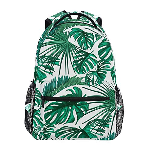 Back to School Girl Laptop Backpack, Palm Tree Leaf Water Resistant College Students Travel Computer Notebooks Backpack for Women (Trees Backpack With Palm)