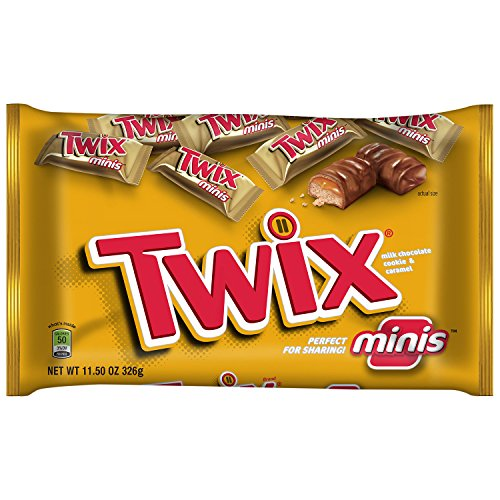 TWIX Caramel Minis Size Chocolate Cookie Bar Candy 11.5-Ounce Bag (Pack of 4)