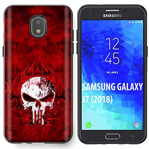 [NakedShield] Samsung Galaxy (J7 2018)/J7 Aero/J7 Refine/J7 Star/J737/J7 V 2nd Gen [Black] Ultra Slim TPU Phone Cover Case [Tribal Punisher ()