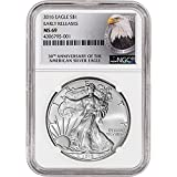 2016 American Silver Eagle (1 oz) Early Releases 30th Anniversary Label $1 MS69 NGC