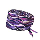 Surgical Scrub Cap Violet for long hair