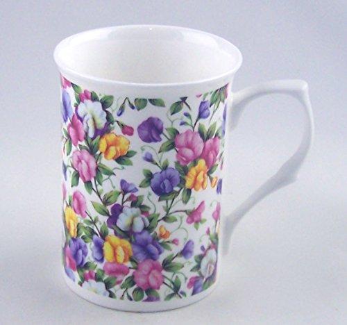 (Fine English Bone China Mug - Sweet Pea Chintz - England)