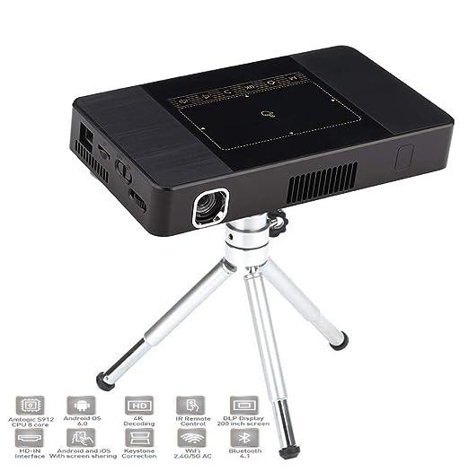 Mini proyector Inteligente, Wi-Fi portátil Bluetooth 6.0 HD de ...