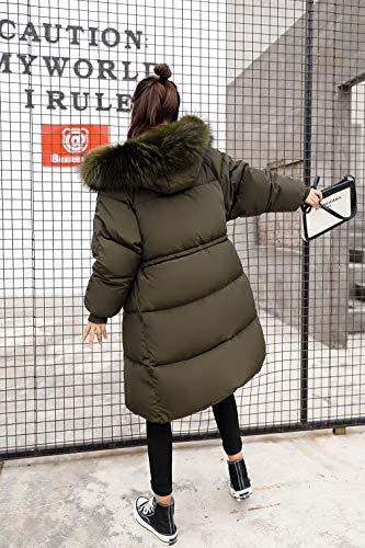 Imbottita Imbottita Lungo Giubbotto 1 Cappuccio Cappotto Donna vogue Invernale Invernale Pelliccia Donna Verde La Esercito Giacca con xqf8n1R