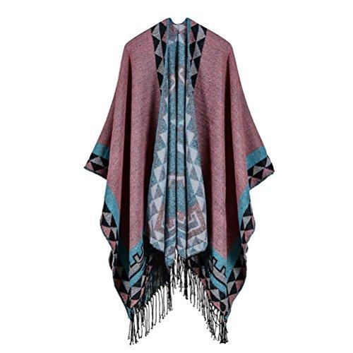 Invierno Sweater Dama Estampadas Elegantes Patrón Anchos Chaqueta xZfq7wA