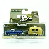 uhaul toy truck - 1966 DODGE D-100 & AIRSTREAM 16' BAMBI * Hitch & Tow Series 3 * Greenlight Collectibles 2015 Truck & Trailer Limited Edition 1:64 Scale Die-Cast Vehicle Set