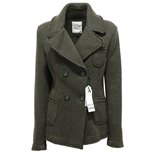 At Coat Woman co Telma Cappotto p Donna 7810r Verde Melange 74n871A
