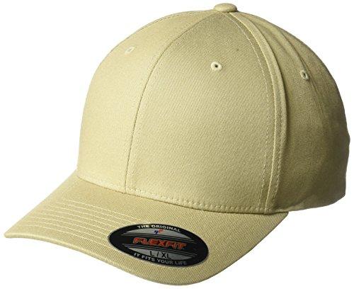 Yupoong - Flexfit - Gorra, de sarga de algodón, ajuste prefecto - Beige - Small/Medium