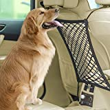 Car Dog Barrier, Pet Barrier Stretchy Car Seat Back Organizer Safety Car Net Universal for Dogs, Cars, Jeeps, Trucks, Suv, Vehicles, Pets, Heavy Duty by Eackrola Review