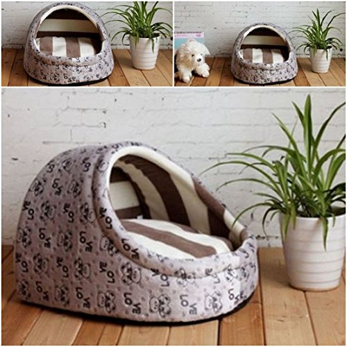[1 Pcs Imperial Popular Pet Half Covered Bed Size M Cozy House Dog Furniture Portable Couch Color Type] (Castle Boutique Halloween Costumes)