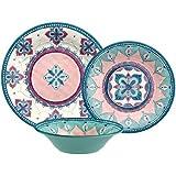 Cheap Dinnerware Set 12-Pieces Boho Design