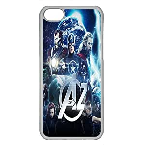 iPhone 5C case ,fashion durable Transparent side design phone case, pc material phone cover ,with age of ultron 2 ¡ê¡§2015¡ê?picture .