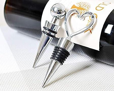 Chingde Tapón de botella, 4 piezas Tapón de vino Tapón de champán Acero Tapón de botella de vino Tapón de botella espumoso Tapón de vino reutilizable