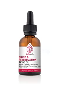 Teliaoils Shine and Rejenuvation Tattoo Oil for Healing, Soothing, Moisturizing the skin & Relieves Itching 30Ml