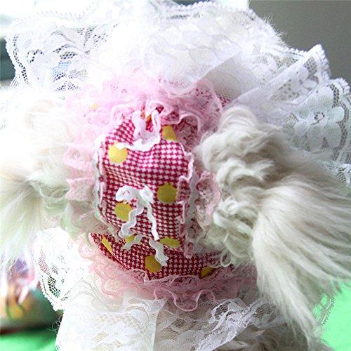 2-pcs-pink-hat-cap-sunbonnet-small-pets-princess-outdoor-accessories-clothes-party-costumes-fancy-pe
