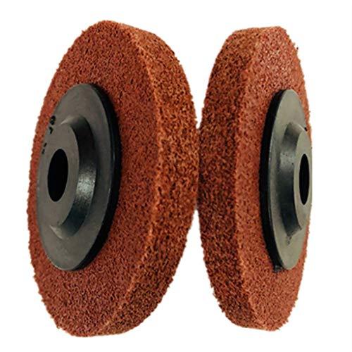 (UNBRUVO 10Pcs 4 Inch 100MM Nylon Fiber Flap Discs Polishing Buffing Wheel)