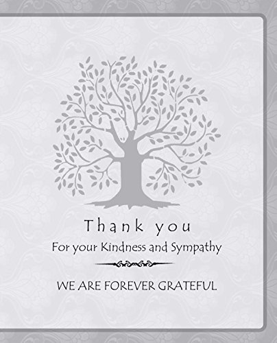 20 Celebration of life Funeral thank you cards with envelopes acknowledgment memorial Sympathy Thank you Cards (white)