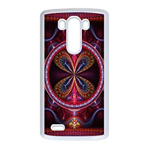 LG G3 Cell Phone Case White 3D Abstract Ring JNR2240374