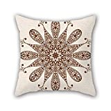 PILLO 16 x 16 inches / 40 by 40 cm flower cushion covers,both sides is fit for dinning room,saloon,bedroom,her,festival,wife