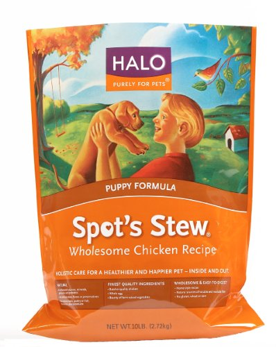 Halo Spot's Stew Natural Dry Dog Food, Puppy, Wholesome Chicken Recipe, 10-Pound Bag, My Pet Supplies