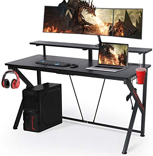 LYNSLIM Black Computer Gaming Desk