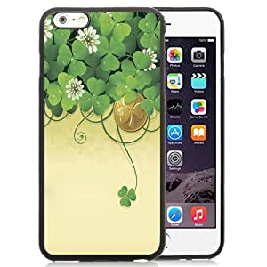 NEW Unique Custom Designed iPhone 6 Plus 5.5 Inch Phone Case With Lucky Clover Illustration_Black Phone Case