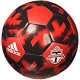 adidas AZ3223 Toronto FC Soccer Ball 5, Scarlet/Solid Grey/White