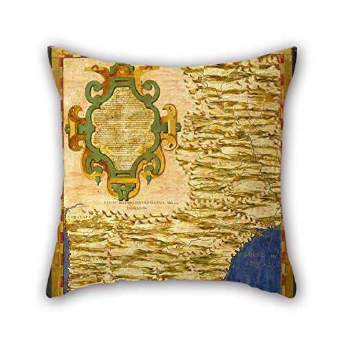 Slimmingpiggy Oil Painting Egnazio Danti - Indian Subcontinent And Island Of Sri Lanka Cushion Cases 18 X 18 Inches / 45 By 45 Cm Gift Or Decor For Living Room,kitchen,home,festival,girls,floor - B