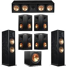 Klipsch 7.1 Black Ash System with 2 RF-7 III Floorstanding Speakers, 1 RC-64 III Center Speaker, 4 Klipsch RP-250S Surround Speakers, 1 Klipsch R-115SW Subwoofer