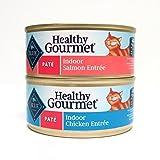 Blue Buffalo Healthy Gourmet Indoor Wet Cat Food Variety Pack - 2 Flavors