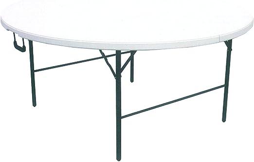 Tavolo Rotondo Pieghevole Giardino.Cilvani Tavolo Tavolino Rotondo Pieghevole Xl Richiudibile Resina