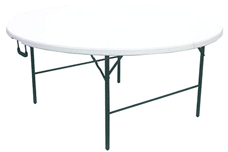 Tavolo Rotondo Pieghevole Giardino.Tavolo Tavolino Rotondo Pieghevole Xl Richiudibile Resina Hdpe