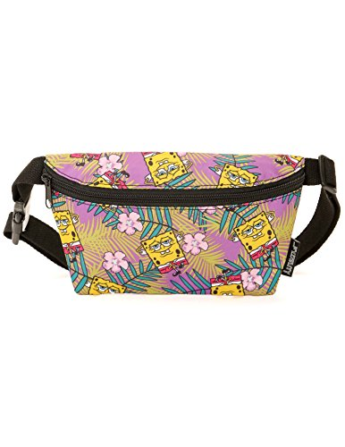 FYDELITY Ultra Slim Fanny Pack Belt Bag -NICK SpongeBob Square-Pants Purple Hawaii Bum-bag | For Cute Funny Waist Pouch/Travel Gear/Phanny/Vacation/Beach/Kids/Boy/Girl/Teen/Men/Women/Gift/Accessories]()