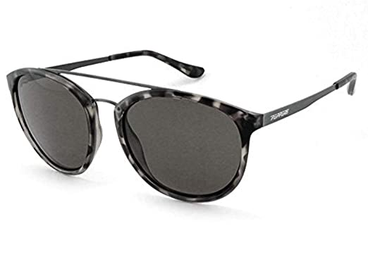 5d7a3d261b2 New Peppers Wicket Polarized Sunglasses in Shiny Grey Demi with Smoke  Polarized
