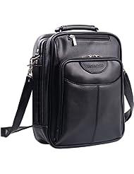 Jack&Chris Mens PU Leather CrossBody Handbag Largesize Shoulder Messenger Sling Bag, MBYX019