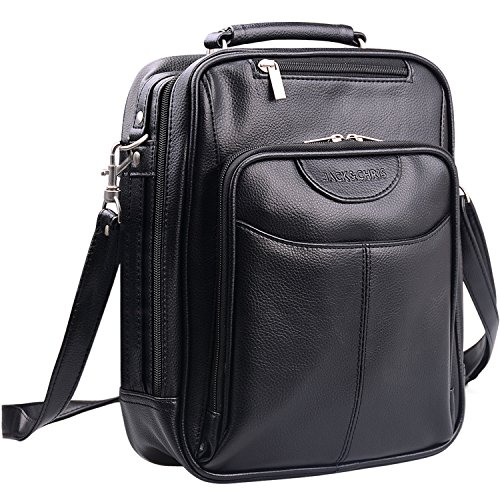 Jack&Chris®Men's Leather Cross Body Handbag Shoulder Messenger Bag Sling Bag,MBYX019