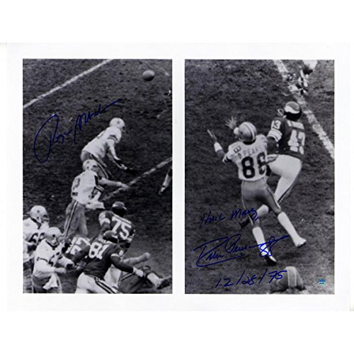 - NFL Dallas Cowboys Roger Staubach/Drew Pearson Dual Signed 'Hail Mary' 16x20 Photo