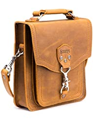Saddleback Leather Front Pocket Pouch - 100% Full Grain Leather Satchel Bag with 100 Year Warranty