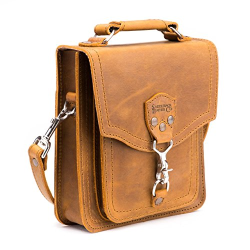 Saddleback Leather Front Pocket Pouch - 100% Full Grain Leather Satchel Bag with 100 Year Warranty by Saddleback Leather Co.