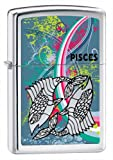 Zippo Zodiac Pisces High Polish Chrome Lighter