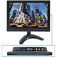 TPEKKA 10 Inch (HD) 1280X800 TFT LCD Color HDMI VGA USB AV Monitor Screen Video for PC Security Cam CCTV DVR System/Aerial FPV/Switch /PS3 /PS4/Xbox One/WIN 7 8 10