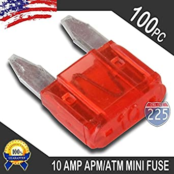 5 Pack 10A Mini Blade Style Fuses APM//ATM 32V Short Circuit Protection Car Fuse