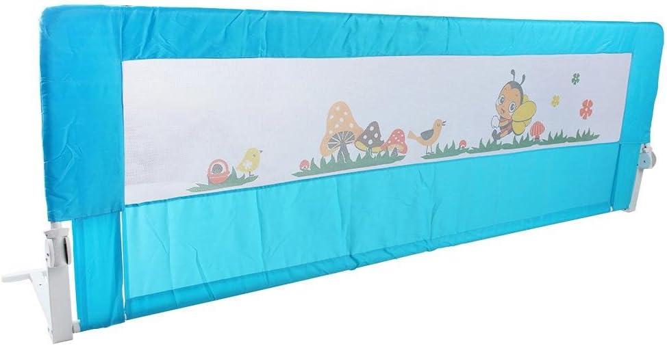 faltbar 150 x 64 cm Blau Zerone Bettgitter f/ür Babys//Kleinkinder