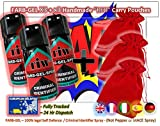 FARBGEL Criminal ID Spray/Self Defence Spray x3 with x3 Handmade RED Carry Pouches