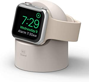 elago W2 Apple Watch Charger Stand Compatible with Apple Watch Series 6/SE/5/4/3/2/1 (44mm, 42mm, 40mm, 38mm) (Stone)